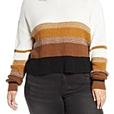 BP. Stripe Mock Neck Sweater
