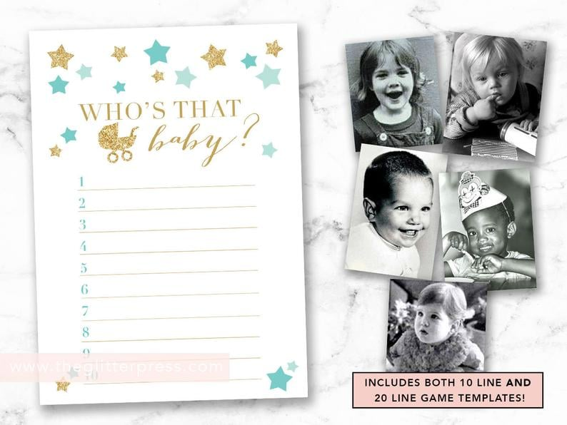 image regarding Guess Who Printable referred to as Wager Whos That Boy or girl Printable Child Shower Sport Printable