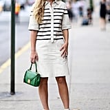 Sharp stripes and a pop of color — what's not to love about that?!