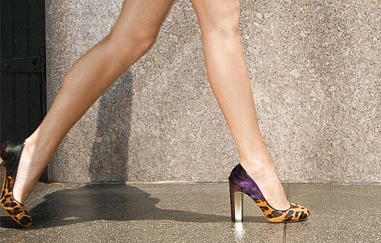 Pangea Leopard-Print Calf-Hair Pumps ($450)