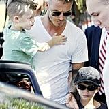 Mini Me: David and Cruz Beckham Rock Matching Haircuts