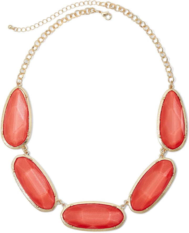 Mixit Orange Faceted Bead Necklace ($24)