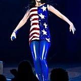 And Underneath, Katy Wore a Sequin Patriotic Top