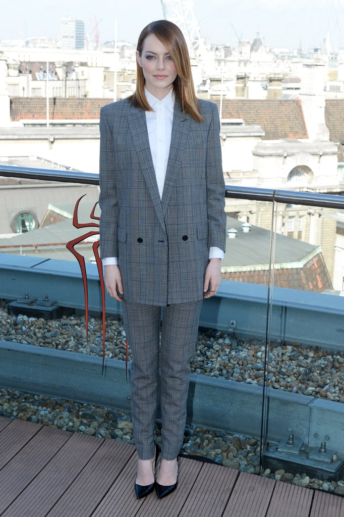Emma Stone at a London Photocall For The Amazing Spider-Man 2 in 2014