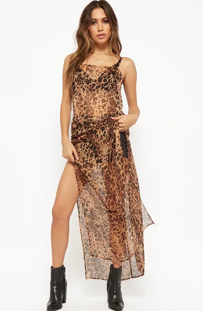 fa17a53a5497 Kylie Jenner Leopard Dress | POPSUGAR Fashion