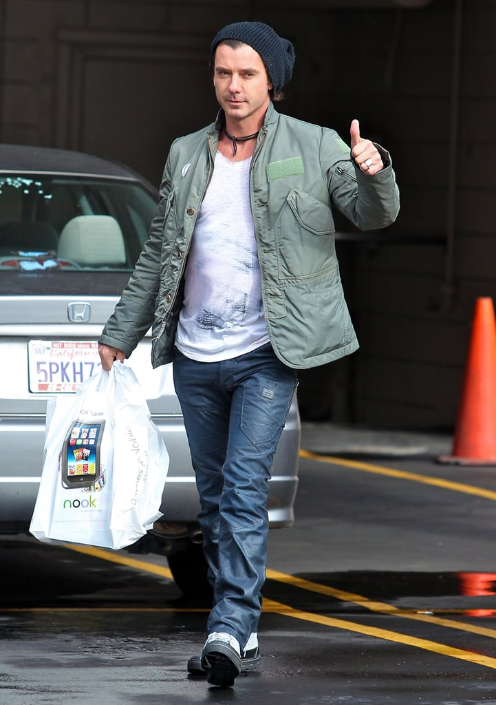 Gavin Rossdale wore a beanie and jeans.