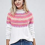 ASOS DESIGN Christmas Bright Fairisle Sweater