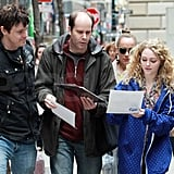 AnnaSophia Robb chatted while on the set of The Carried Diaries in NYC.