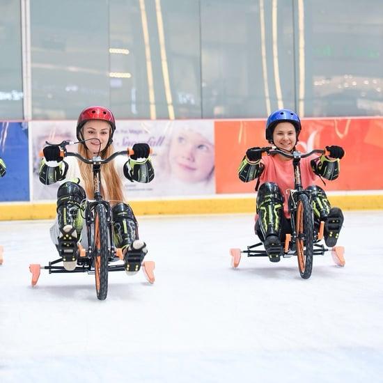 درّاجة التزلج على الجليد في حلبة مول دبي للتزلج على الجليد