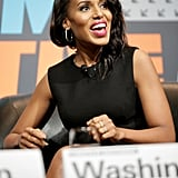 """On the """"double-edged sword"""" of social media: """"I think — and this is something Reese Witherspoon has talked about a lot — it's a little different for me because I don't talk about my personal life. Social media has actually been great for [other celebrities'] relationships with the weeklies or the gossip sites because people say things and they say, 'That's not true! Just so you know, that's BS!' I say 'BS' because it's Sunday. So I'm thinking in some ways, it's been great because people are able to maintain their voice."""" On not discussing her personal life: """"If I don't talk about my personal life, it means I don't talk about my personal life. That means not only did I not tell you when I was getting married, it also means if somebody has rumors about what's going on in my marriage, I don't refute them, because I don't talk about my personal life."""""""