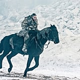 Jon Surviving the Frigid Ride Back to Eastwatch