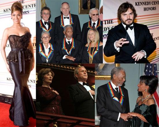 Photos of Beyonce Knowles, George Bush, Barbra Streisand, Morgan Freeman at Kennedy Center Honors