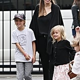 Angelina took Shiloh and Vivienne to the Entertainment Quarter in Sydney on Sept. 14.