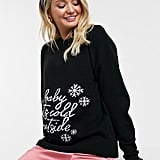 ASOS Design Maternity Christmas Jumper With Baby It's Cold Outside Slogan