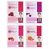 Dermal Collagen Essence Full Face Facial Mask Sheet, 16 Combo Pack