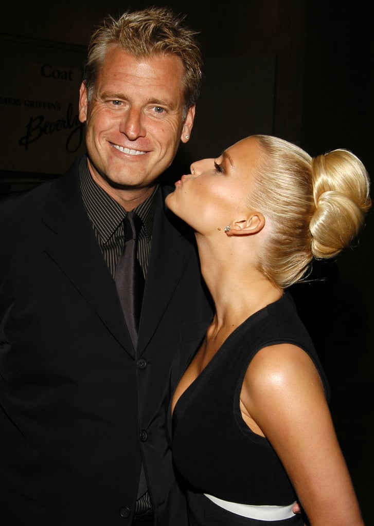 Jessica Simpson was in high spirits with her dad, Joe Simpson, at the September 2003 Operation Smile West Coast Gala.