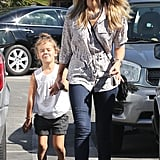 Jessica Alba and Honor Break From Halloween Fun For Errands