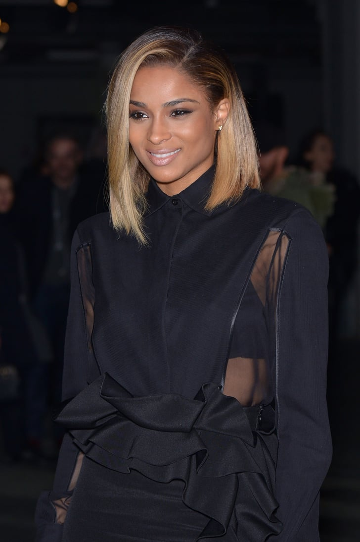 long haircut styles ciara with a lob haircut popsugar 9629 | Ciara