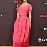 Emily Ratajkowski Pink Dress at Welcome Home Premiere 2018