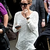 Lauren Conrad carried two cell phones at LAX.