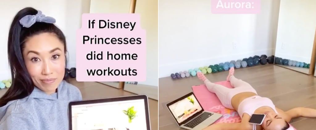 Disney Princesses Doing Home Workouts Video From Blogilates