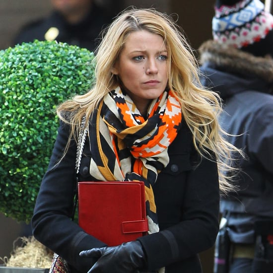 Blake Lively and Leighton Meester on Gossip Girl Set Pictures