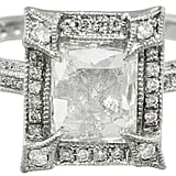 Cathy Waterman Pavé Frame Emerald Cut Diamond Ring