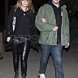 Mischa Barton was on the arm of a male friend for the night.