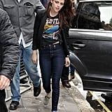 Kristen Stewart arrived at Radio One in London.