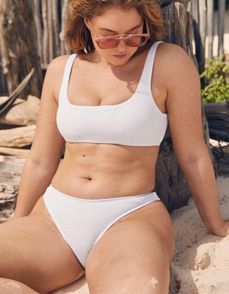 ead09f7b30f Kylie Jenner Crop Top and White Bikini Bottom | POPSUGAR Fashion