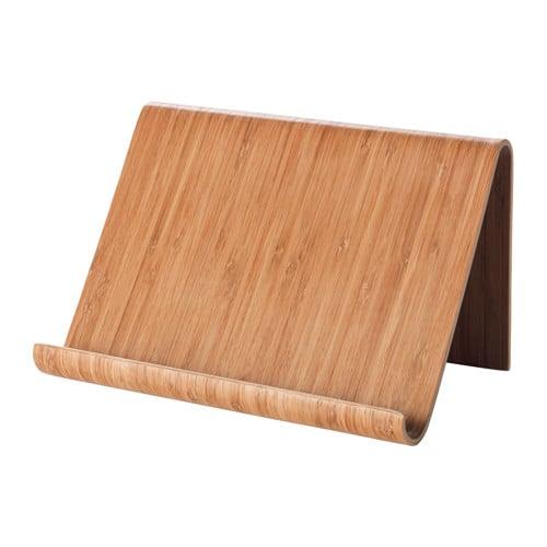 حامل الأجهزة اللّوحيّة المصنوع من خشب الخيزران
