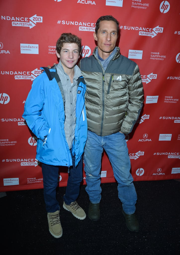 Matthew McConaughey posed with costar Tye Sheridan on Saturday while at the premiere of his new film at Sundance.