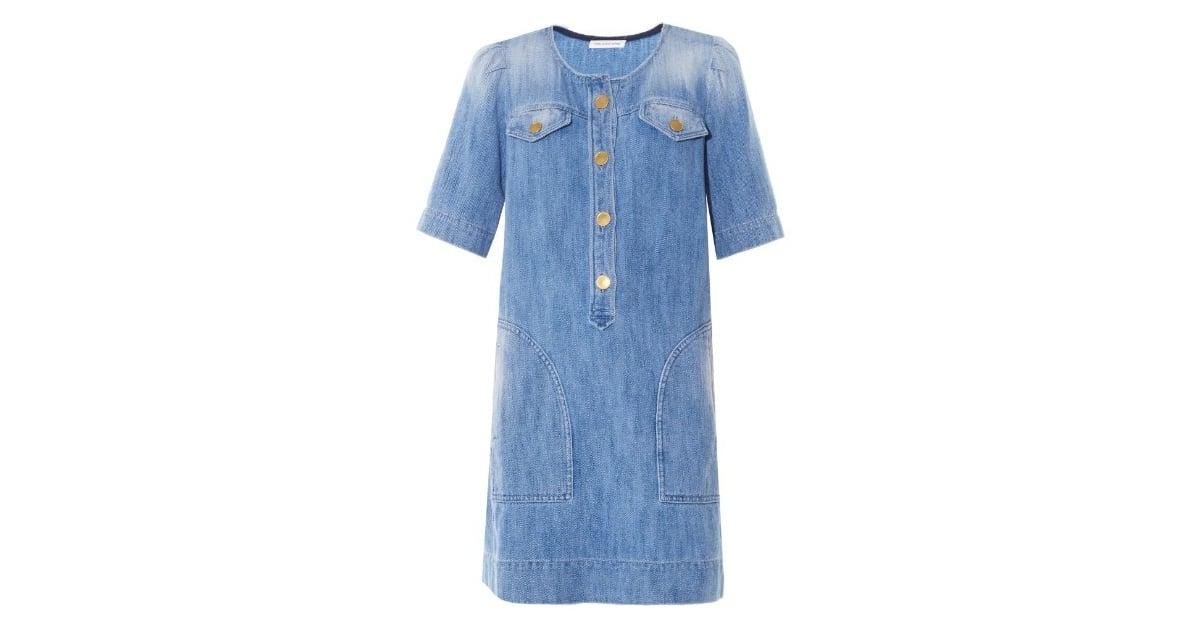 219ddd3a464 Etoile Isabel Marant Oriane short-sleeved denim dress ( 375)