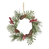 Frosted Berries Faux Pine Mini Wreath