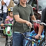 Matt and his family rode bikes.