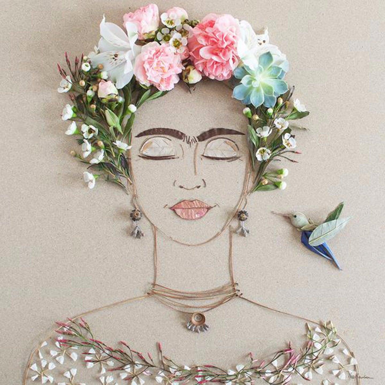 Frida kahlo flower portraits popsugar latina izmirmasajfo Gallery