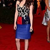 Kristen Stewart chose Balenciaga for the Met Gala 2012.