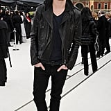 War Horse star Jeremy Irvine attended the Fall 2012 Burberry show.