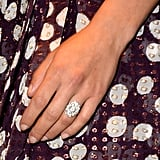 Scarlett Johansson's new engagement ring was on full display when she stepped out for the Under the Skin premiere.