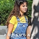 Selena Gomez Denim Overalls August 2018