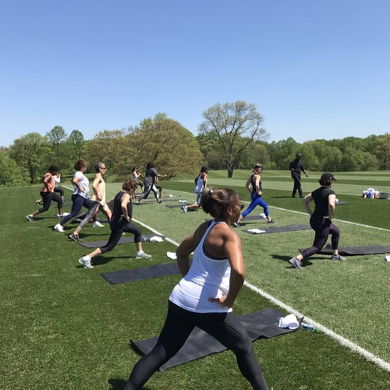 Michelle Obama Doing Bootcamp Workout With Friends