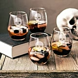 Cathy's Concepts Skull & Crossbones Stemless Wine Glasses