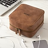Personalized Brown Travel Tech Case