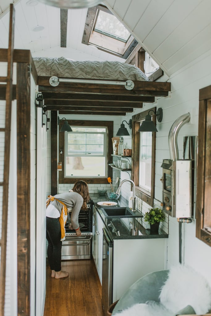 A look at the small but efficient kitchen.