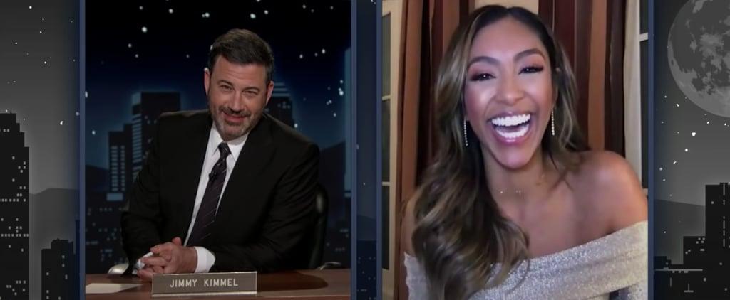 Jimmy Kimmel Interviews Tayshia on Being New Bachelorette