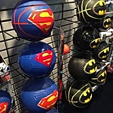 Franklin Sports will get in on the Superman and Batman fun with basketballs, soccer balls, footballs, and more.
