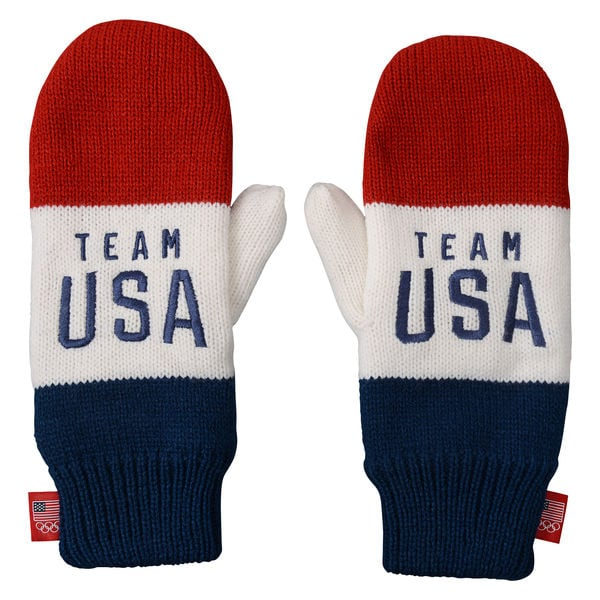 Red/White Team USA Team Color Mittens
