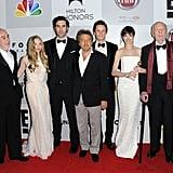 The cast of Les Misérables got together for a photo.