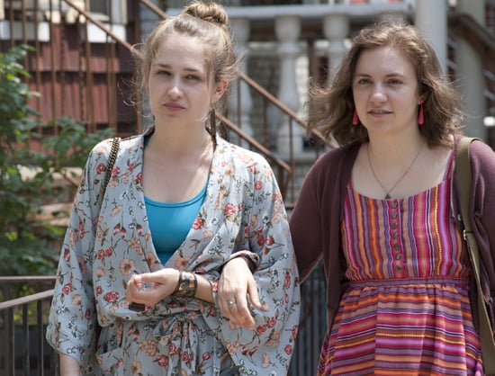 Jemima Kirke and Lena Dunham in Girls. Photo courtesy of HBO