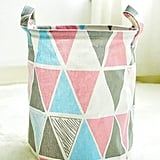 Geometric Print Round Storage Basket